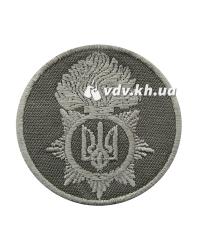 Кокарда пришивная Национальной Гвардии Украины. Олива