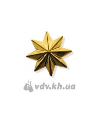 Звезда казацкая. Золото, d=25 мм