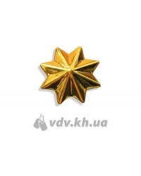 Звезда казацкая. Золото, d=20 мм