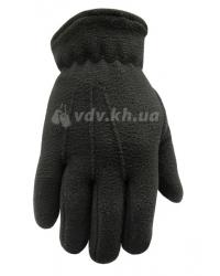 Перчатки зимние флисовые. Черные