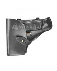 Кобура поясная для пистолета ПМ «Штатная» с чехлом под зап. магазин