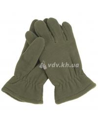 Перчатки зимние флисовые. Олива