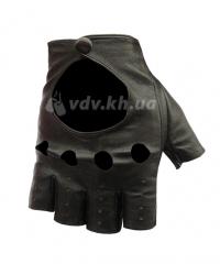 Кожаные мужские перчатки без пальцев