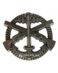 Беретный знак Морской пехоты Украины. Хаки