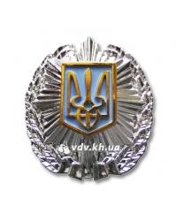 Кокарда МВД Украины. Серебро с золотом