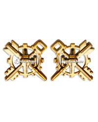 Эмблема частей и подразделений логистики (пара). Золото