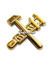 Эмблема работников железнодорожного транспорта. Золото